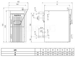 Твердотопливный котел Viadrus U22 Economy (8 секций). Фото 2