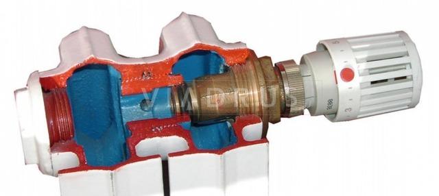 Чавунний радіатор Viadrus ITV Kalor 350/110 + вентиль. Фото 2