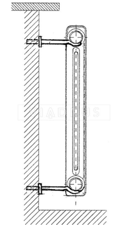 Крепление для радиатора Viadrus 12×260. Фото 3